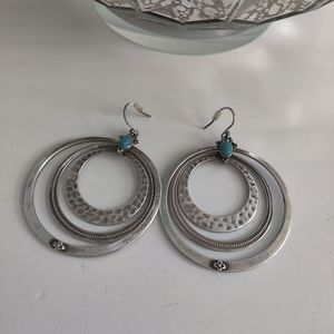 Lucky Silver Turquoise Boho Earrings
